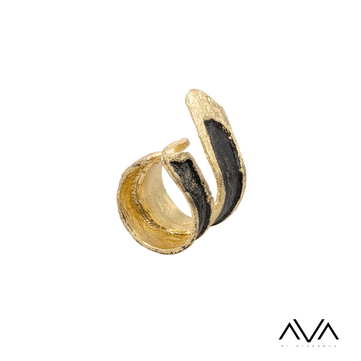 "Anillo ""ANEMOS"" AVA by Mibranda, color negro"
