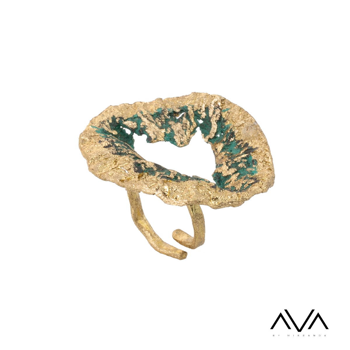 "Anillo ""EDAFOS"" AVA by Mibranda, color verde"