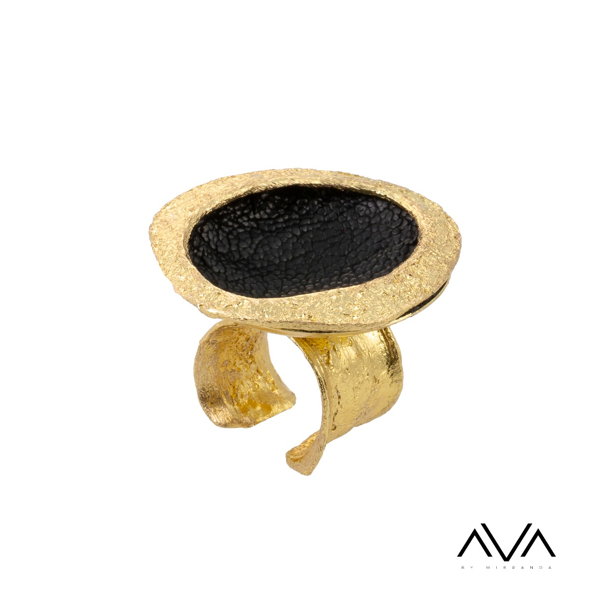 "Anillo ""ILIO"" AVA by Mibranda, color negro"