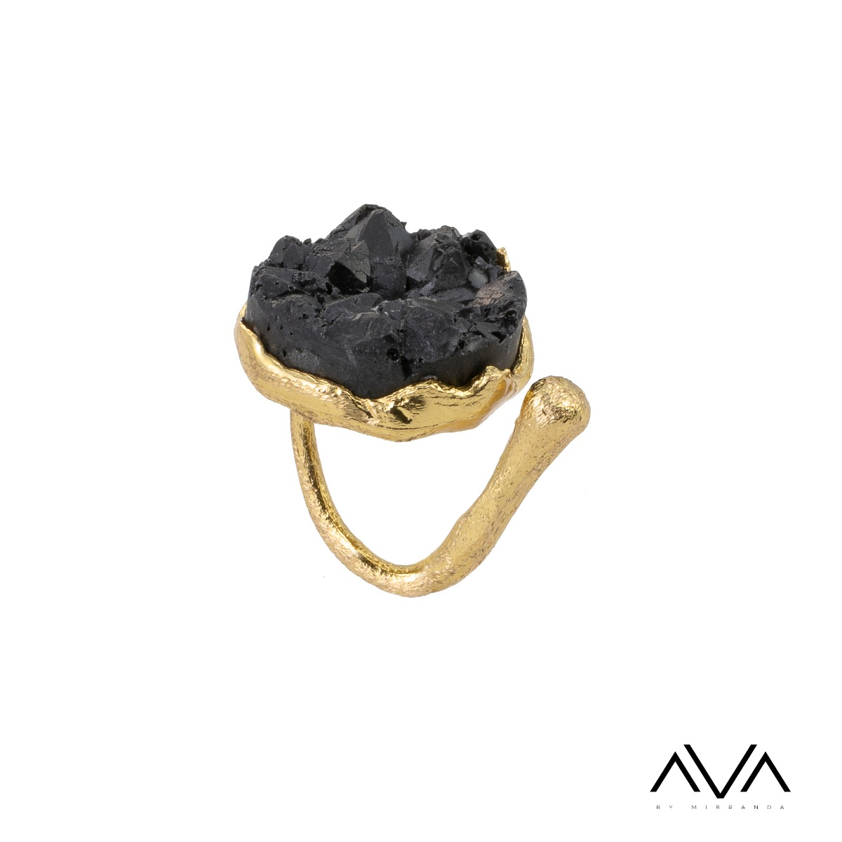 "Anillo ""PETRA"" AVA by Mibranda, color negro"