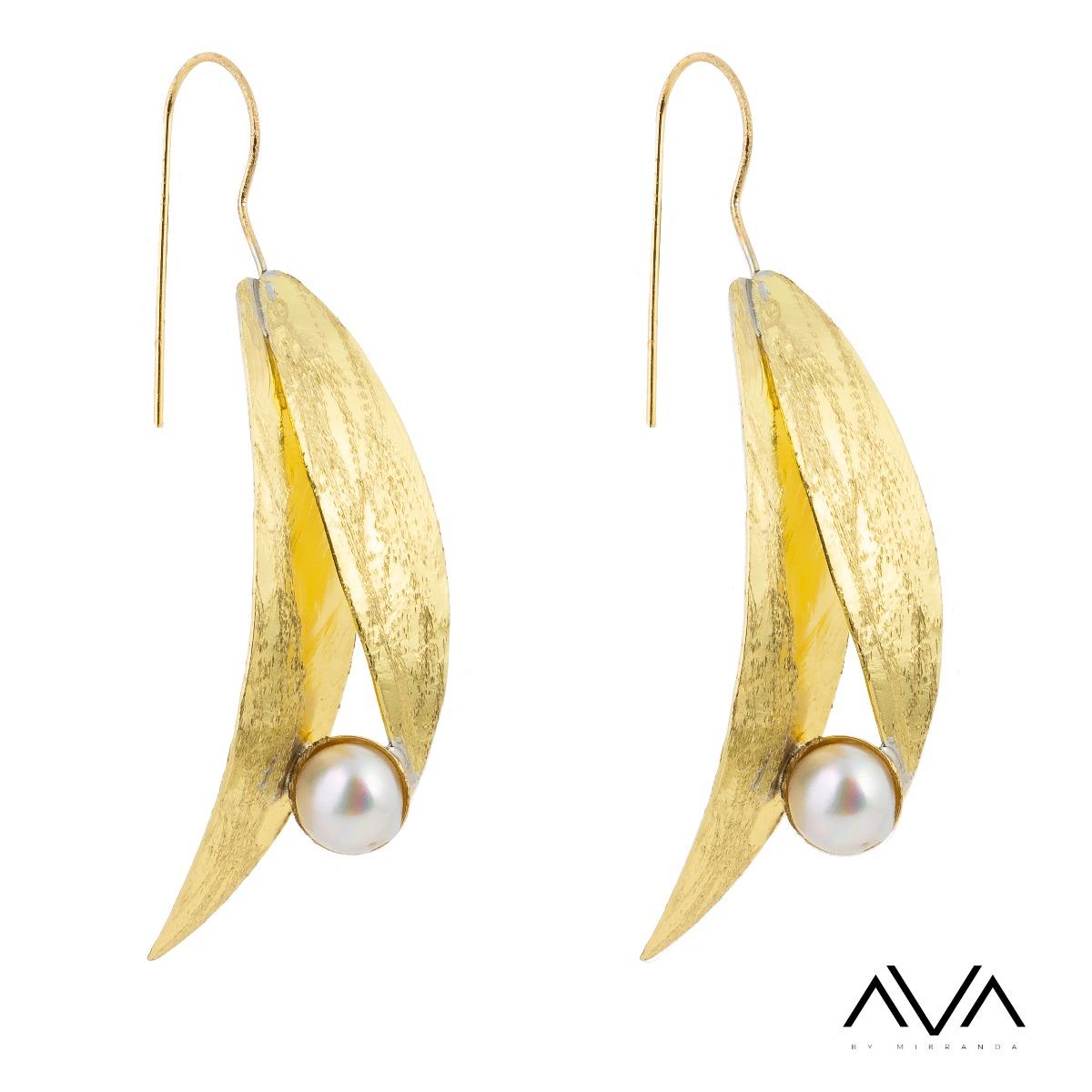 "Pendientes ""ELIA"" AVA by Mibranda, perla."