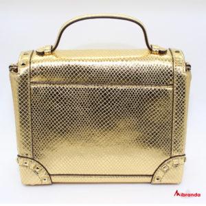 Bolso TINA, de Michael Kors, dorado.