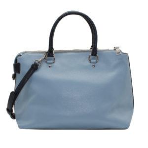 Bolso Satchel EMMA, de Coach, azul celeste.
