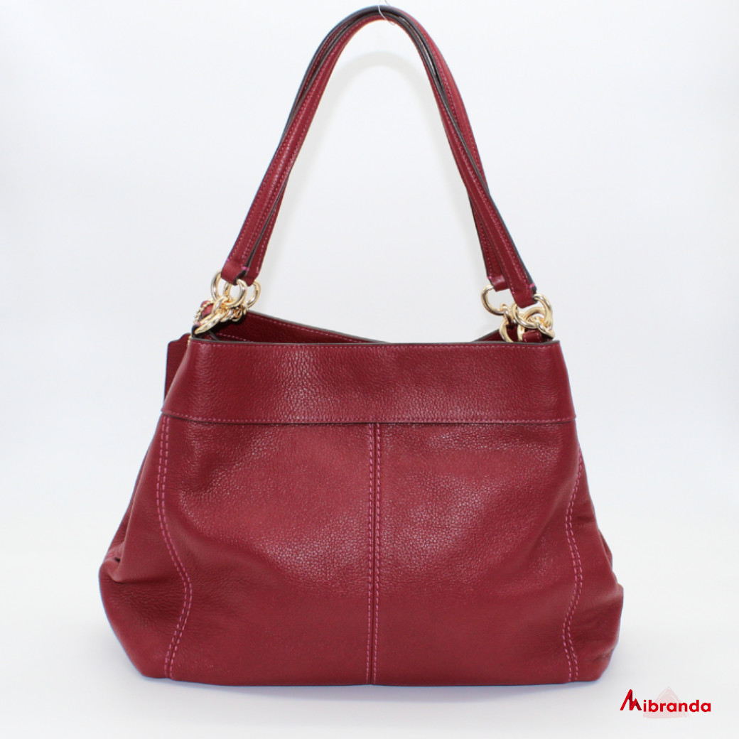 Bolso de hombro, de Coach, color cherry.