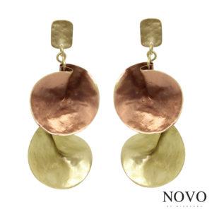 "Pendientes ""LIPSI"", NOVO by Mibranda, cobre-dorado."