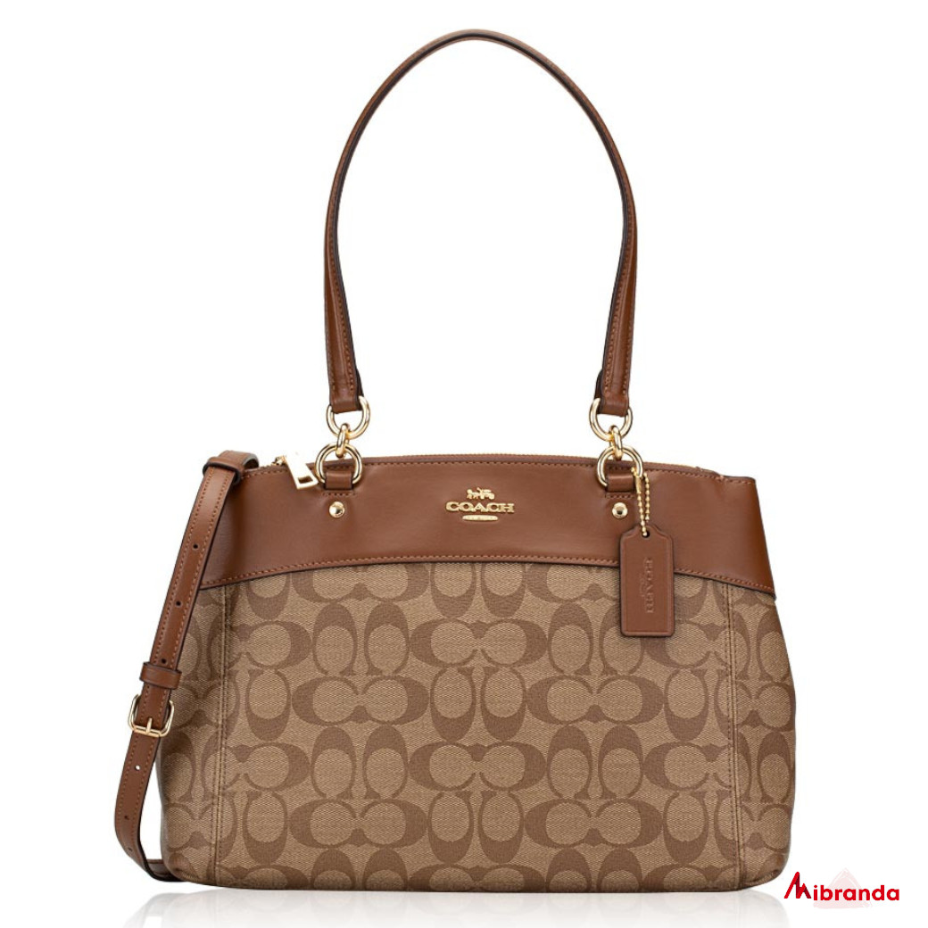 Bolso SADDLE, de Coach, con logotipo.