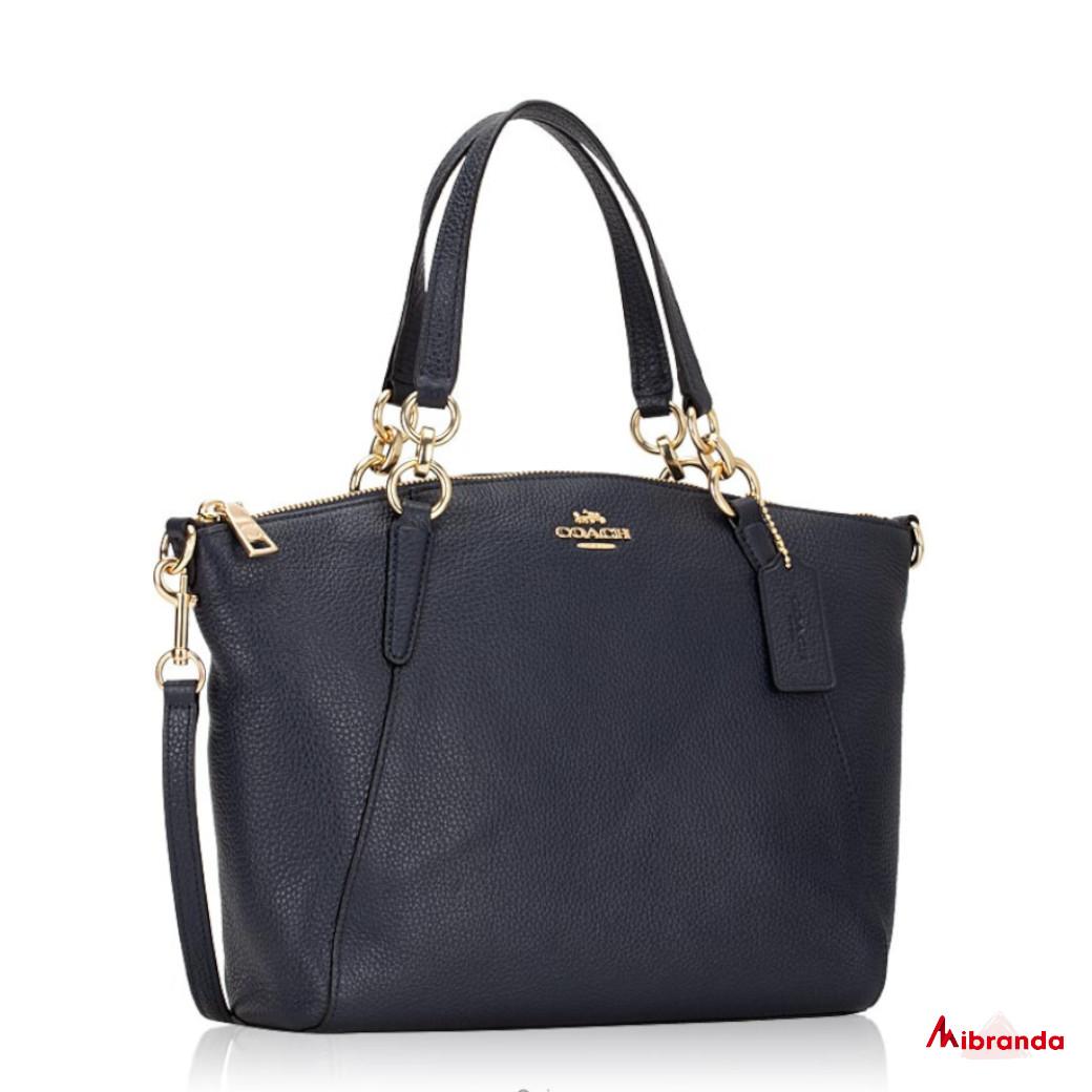 Bolso Satchel azul marino, de Coach
