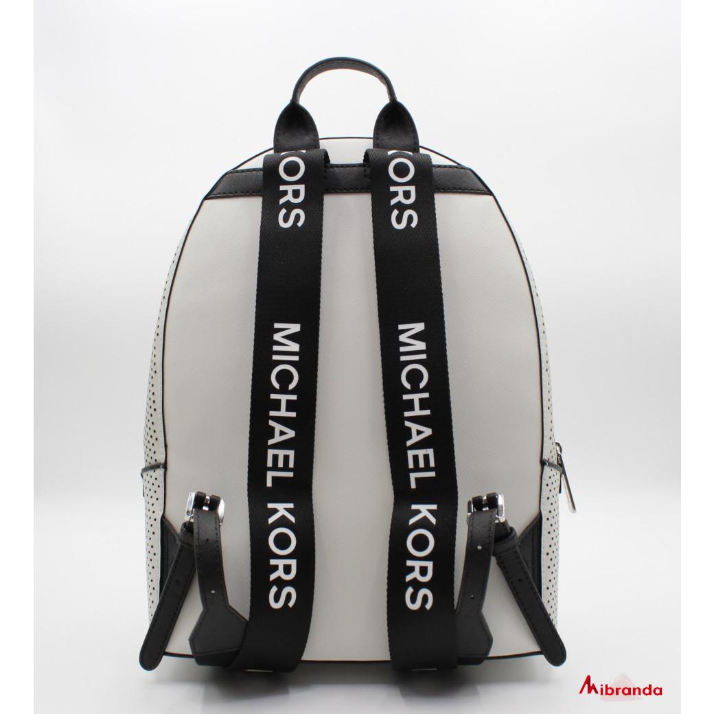 Mochila LACEY, de Michael Kors, color blanco.