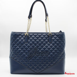 Bolso Tote  ANNIKA, de GUESS, color azul marino.