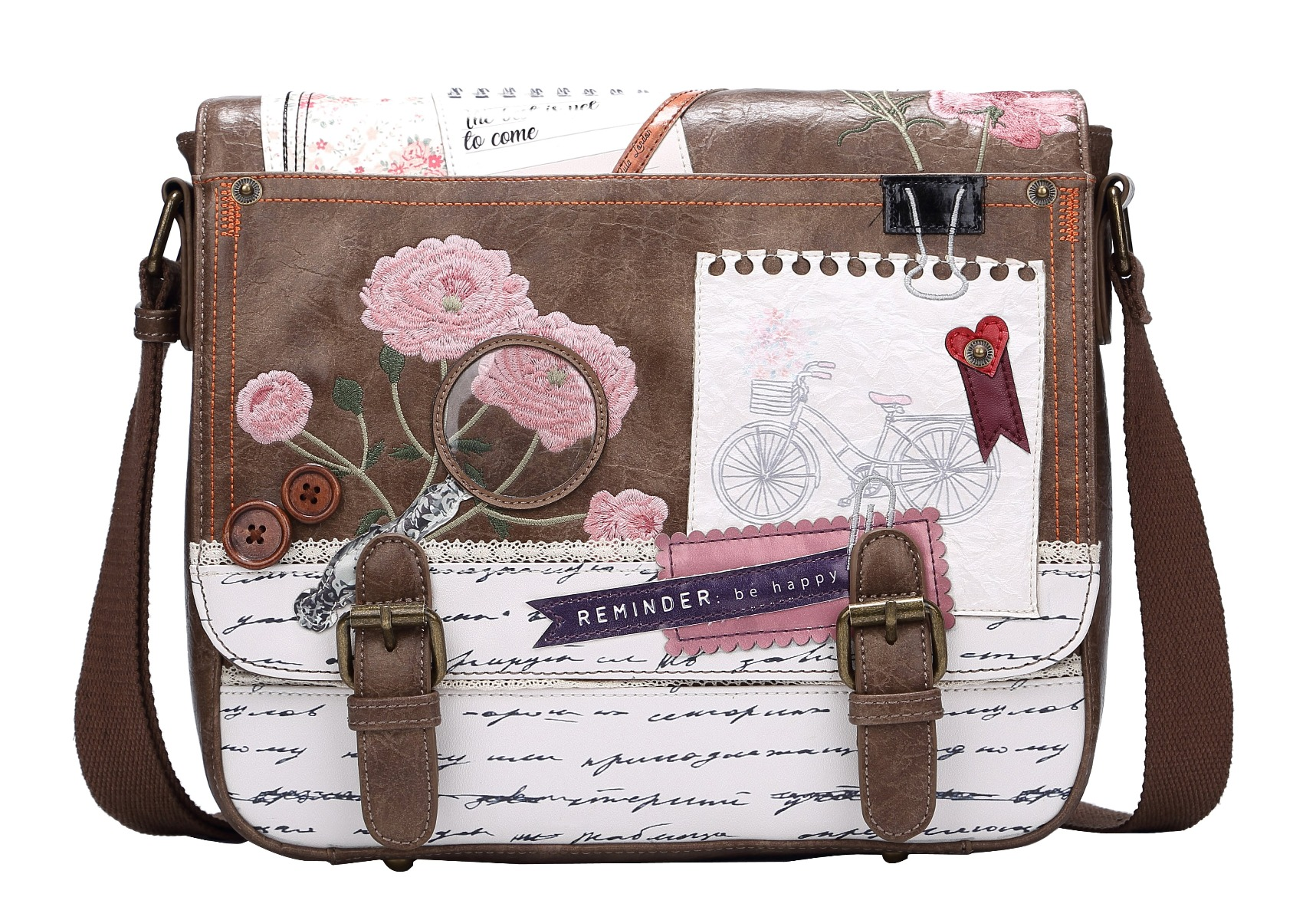 Bolso Satchel Scrapbook, de Vendula London