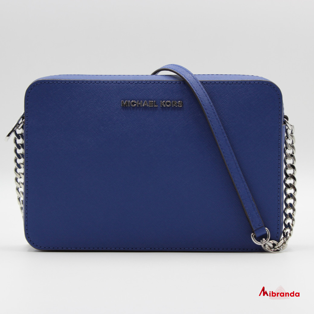 Bandolera JET SET, de Michael Kors, color azul.