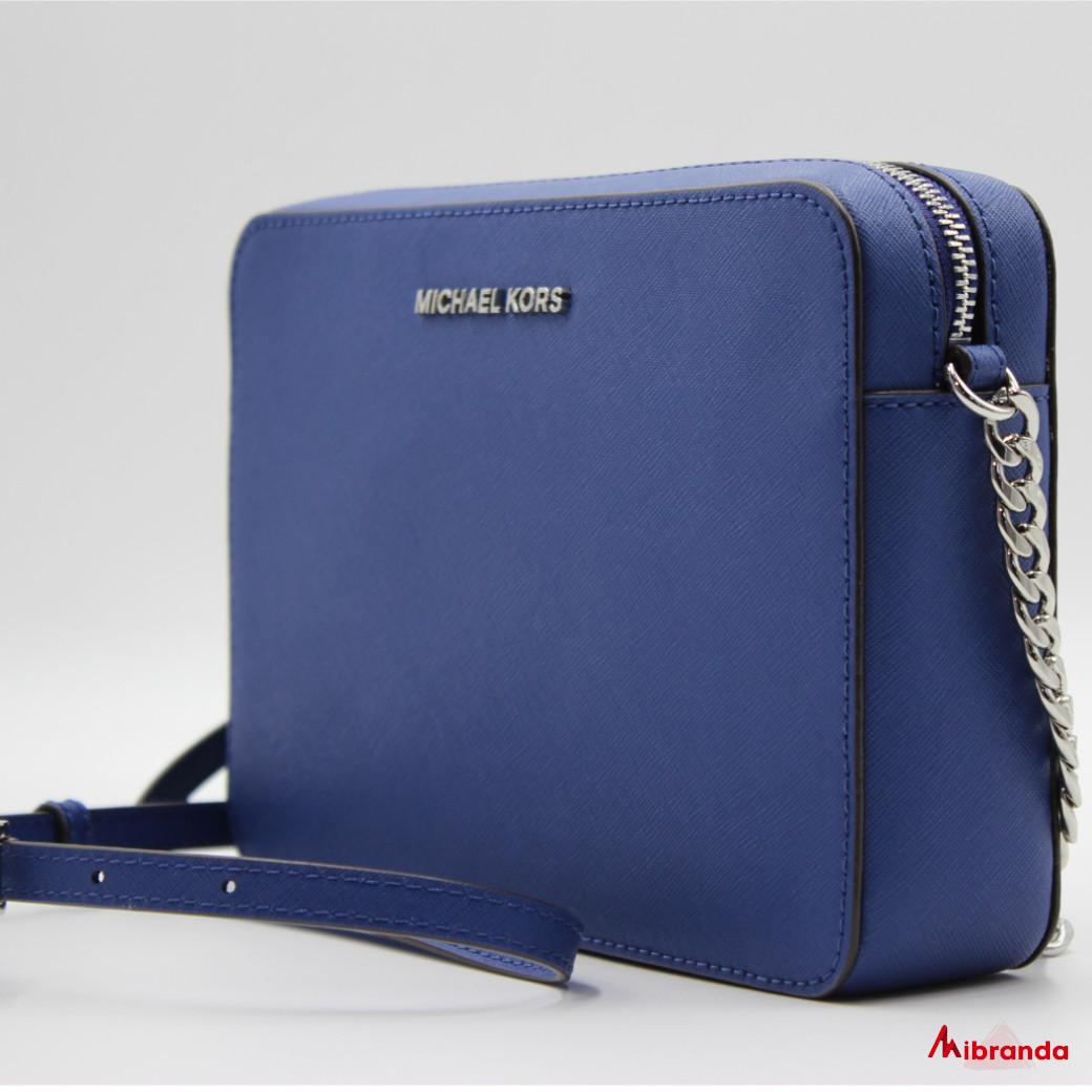 Bandolera JET SET, de Michael Kors, color azul.