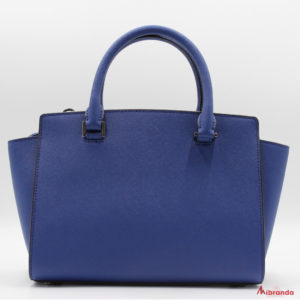 Bolso Satchel SELMA, de Michael Kors, color azul zafiro.