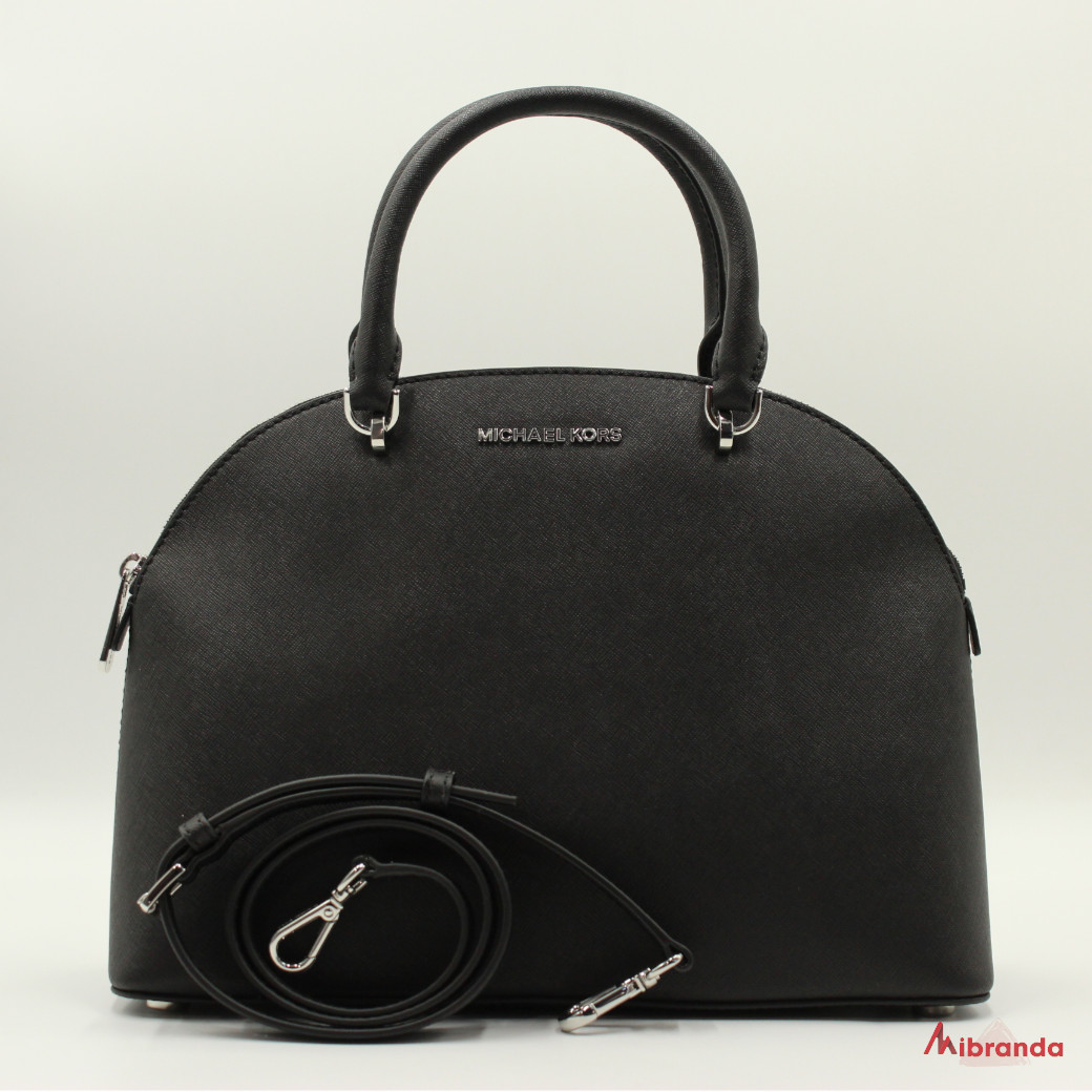 "Bolso Satchel ""EMMY"", de Michael Kors, color negro"