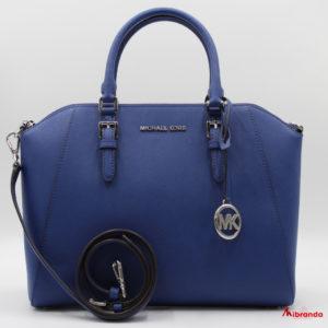 Bolso Satchel Ciara, tamaño grande. de Michael Kors, azul zafiro