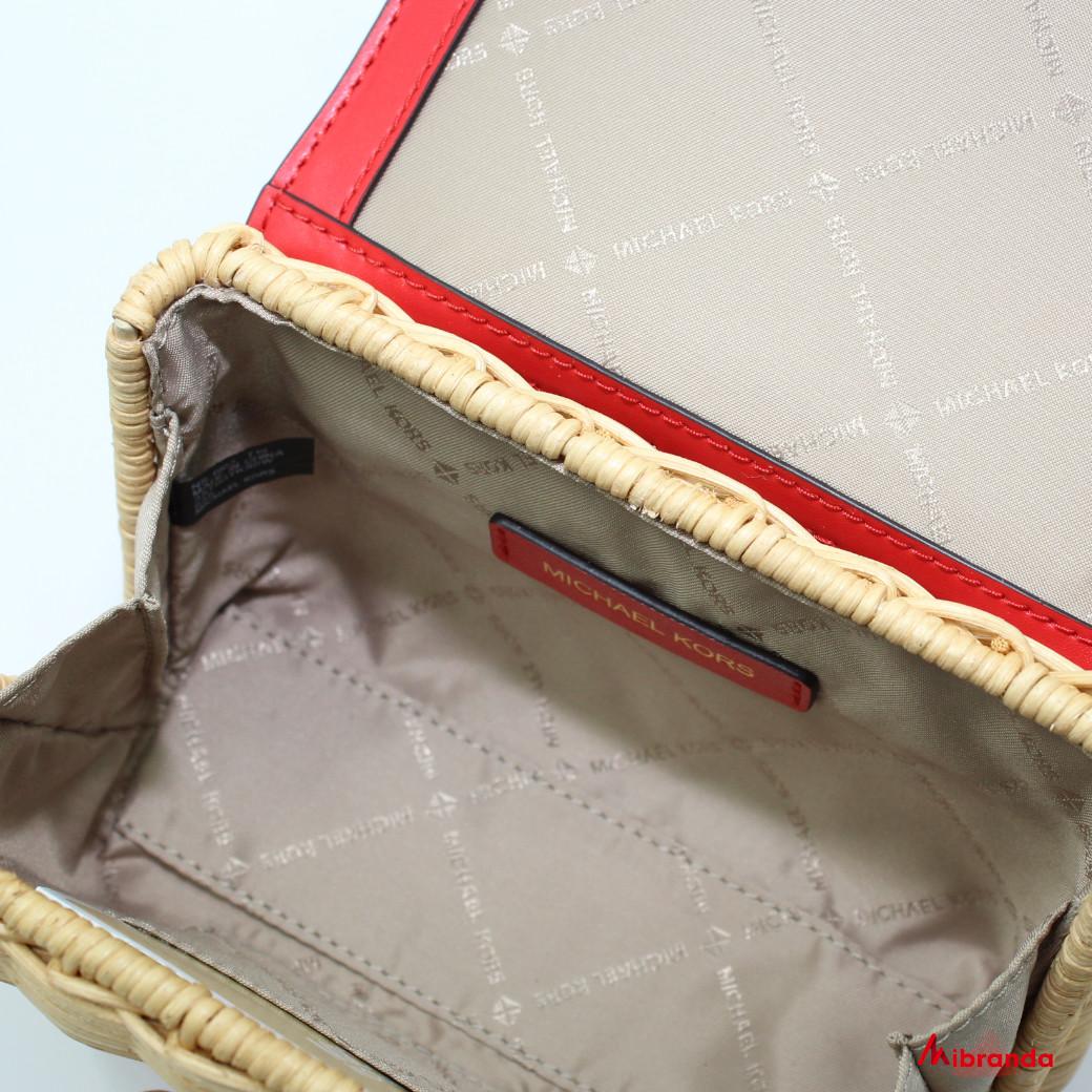 Bolso Mini XS Satchel modelo Kinsley, de Michael Kors, rojo