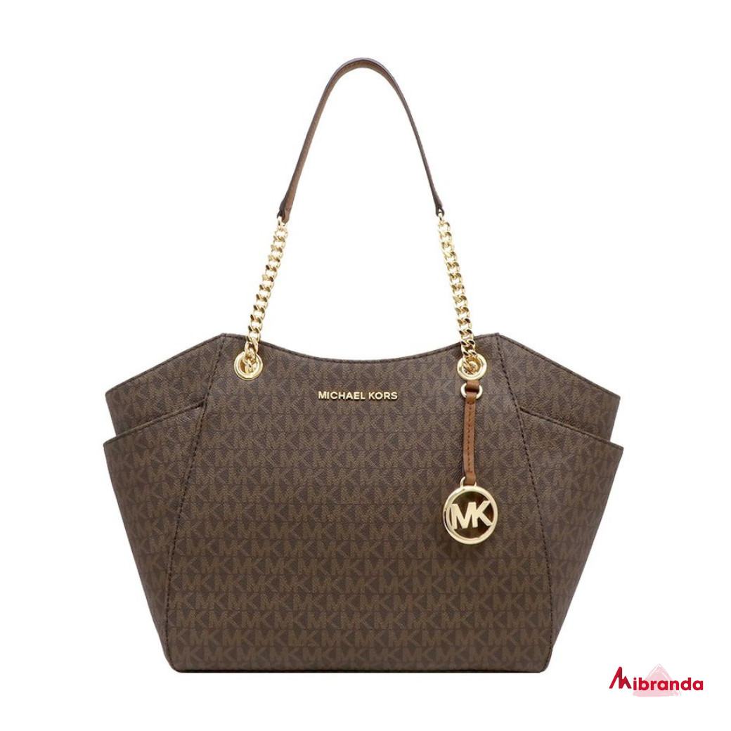 Bolso Tote JET SET TRAVEL, de Michael Kors, con logo, marrón