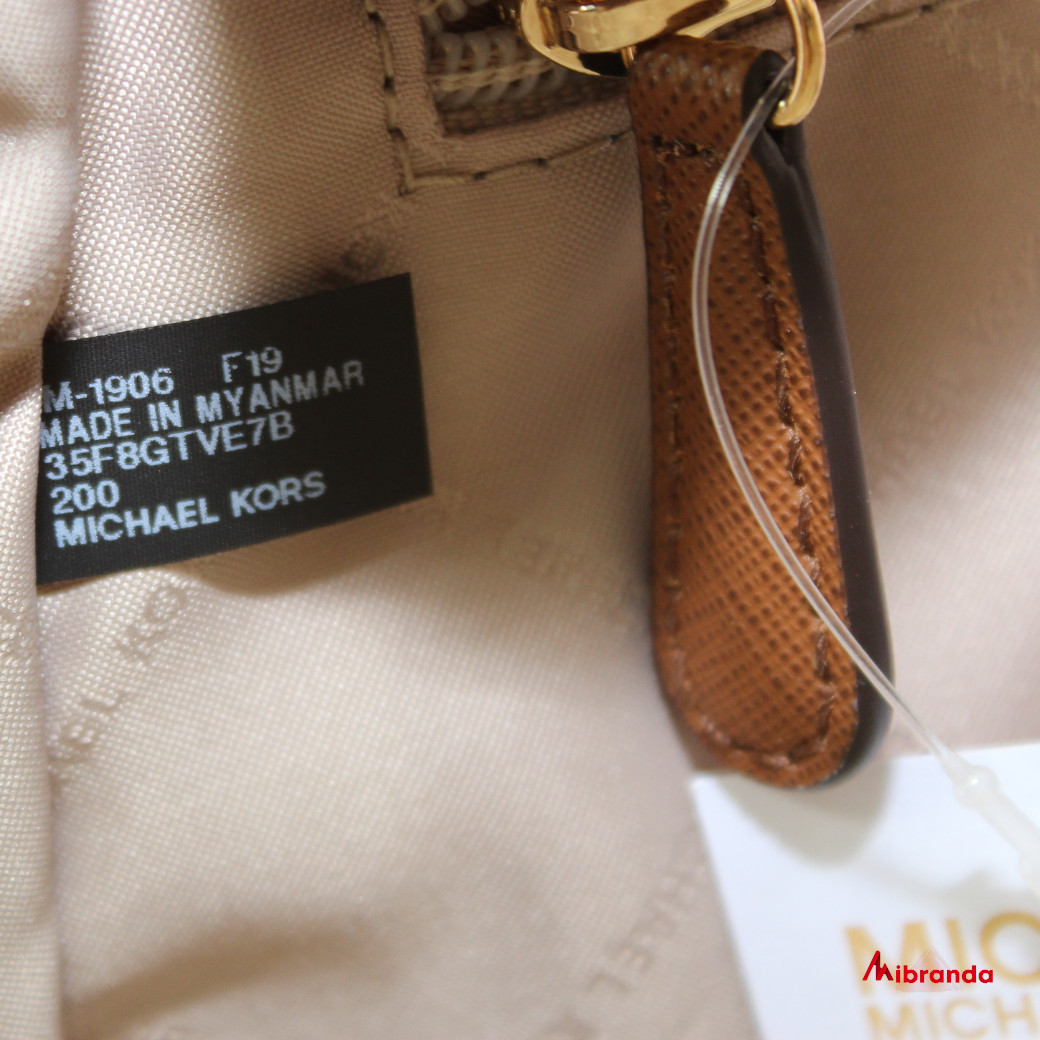 Bolso Tote JET SET TRAVEL, de Michael Kors, con logo, marrón
