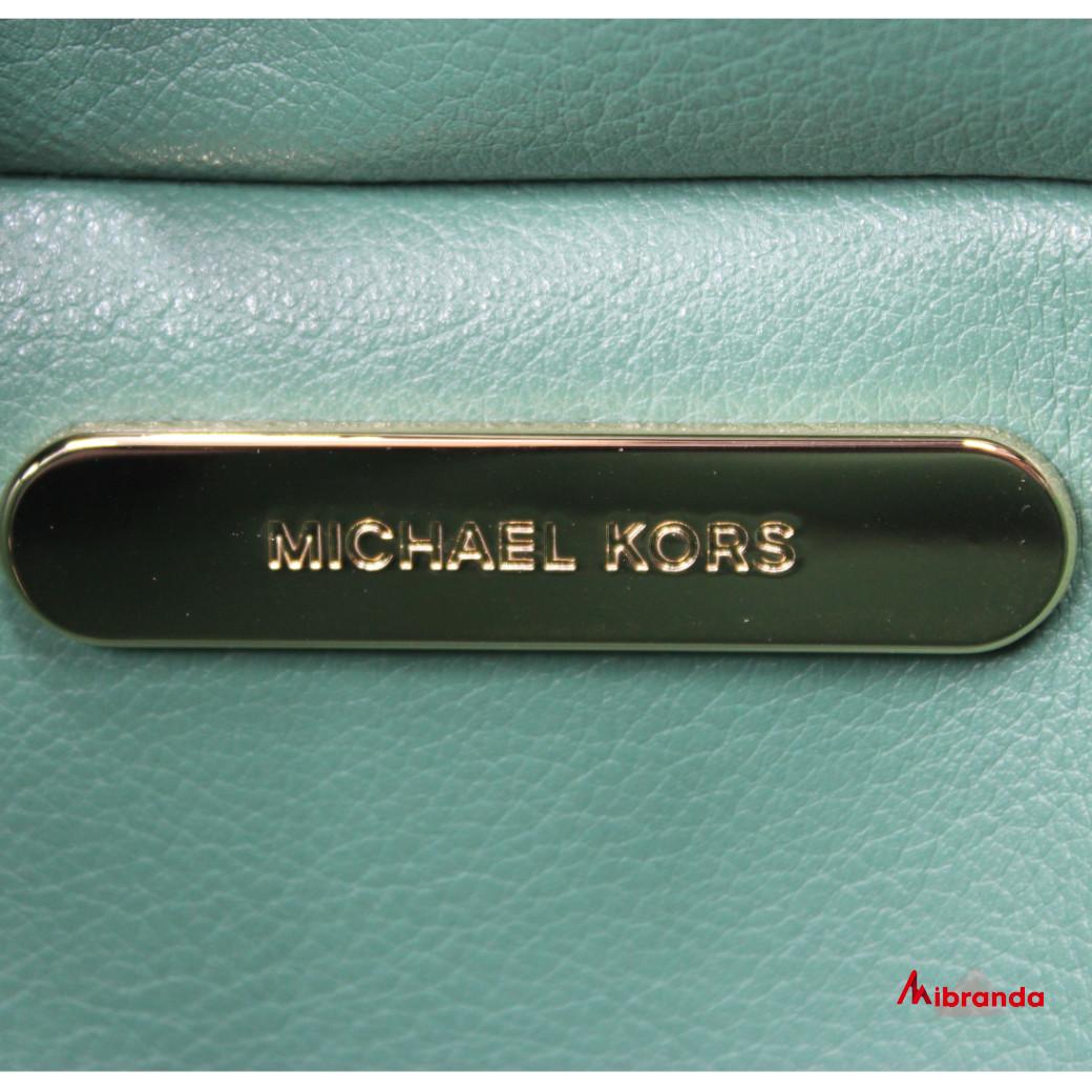 Bolso Tote KIMBERLY, de Michael Kors, verde/marrón