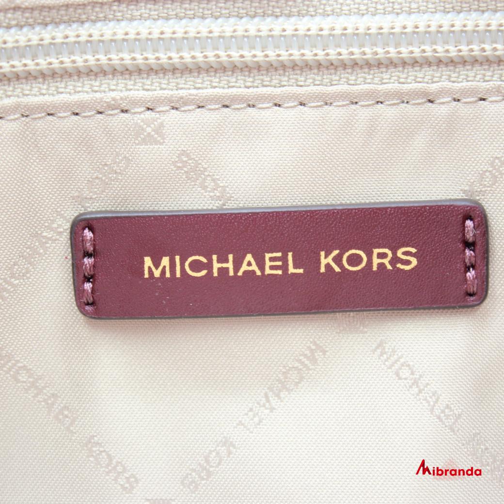 Bolso de hombro BEDFORD, de Michael Kors, Merlot