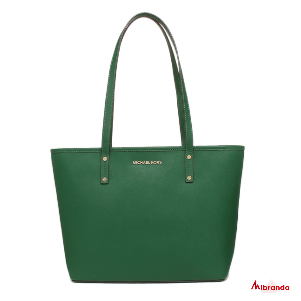 Bolso Tote Jet Set Travel, de Michael Kors, color verde.