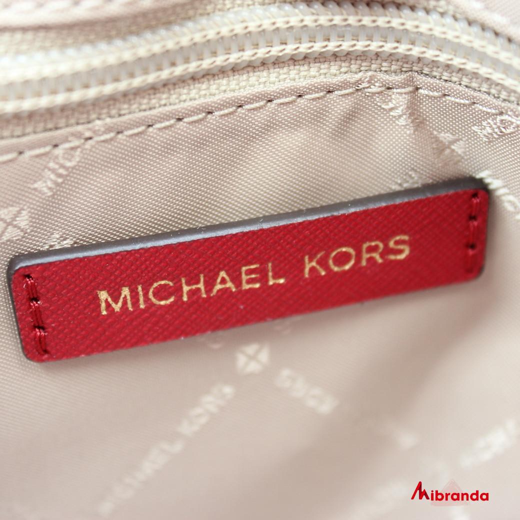 Bolso Satchel CIARA, mediano, de Michael Kors, scarlet