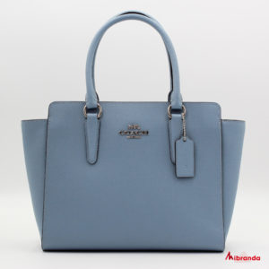Bolso Leah Satchel, de Coach, azul celeste