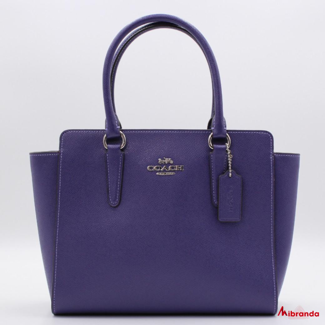 Bolso Leah Satchel, de Coach, púrpura