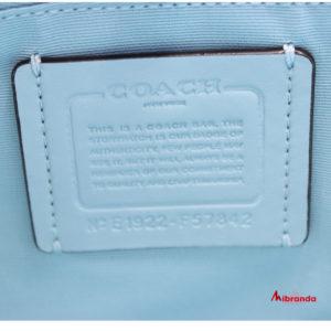 Bolso de hombro Carryall, de COACH, azul/estampado
