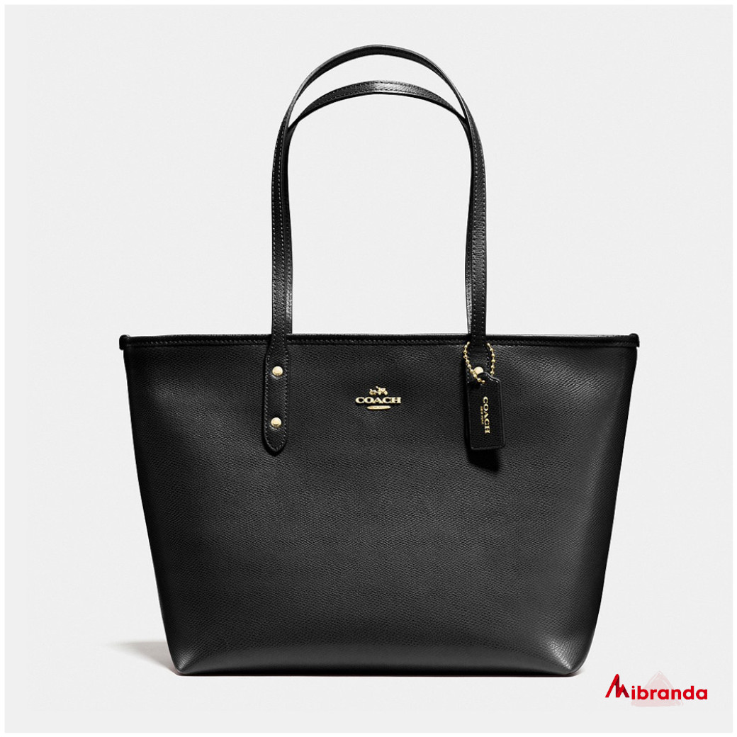 Bolso Tote City, de Coach, color negro