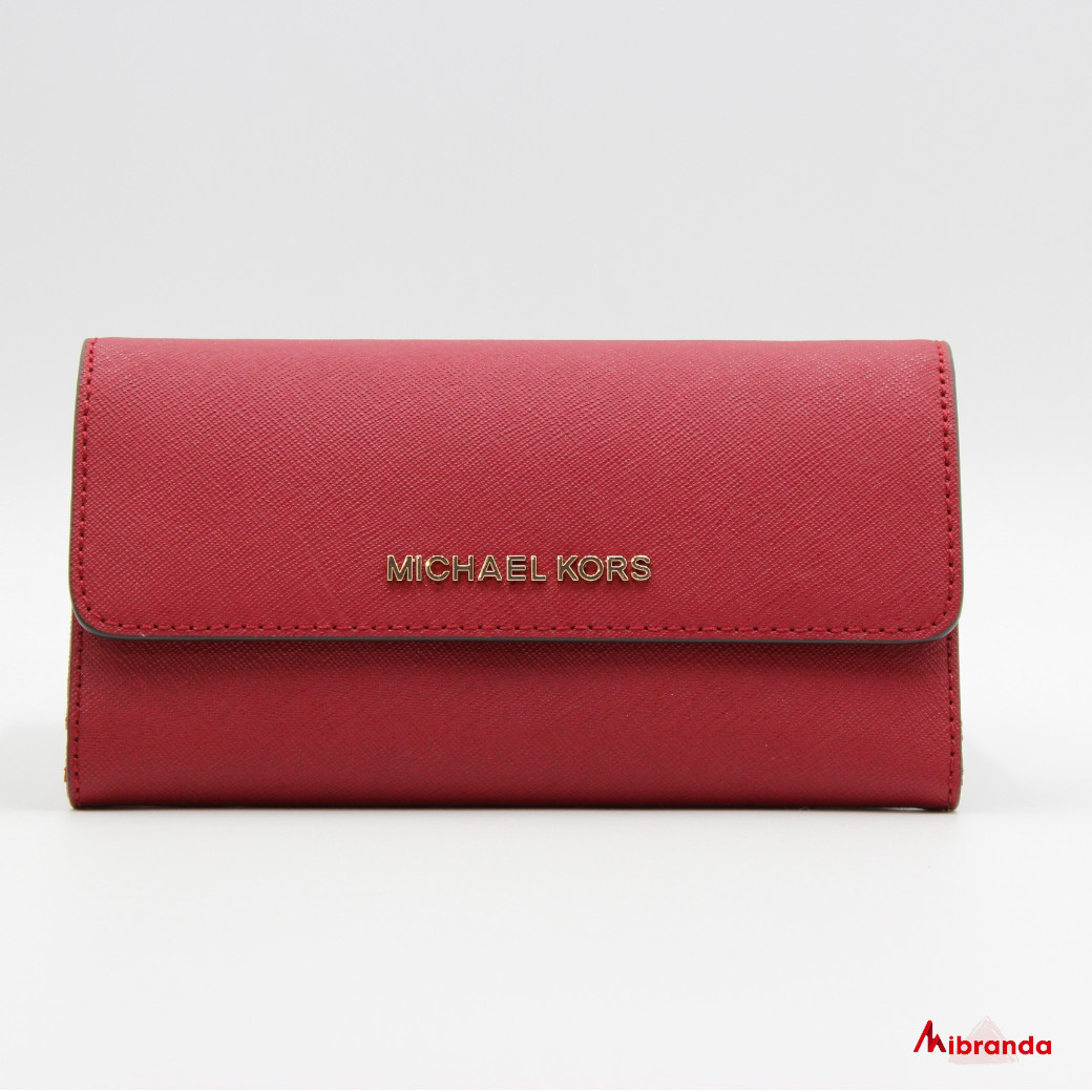 Cartera JET SET TRAVEL, de Michael Kors, scarlet