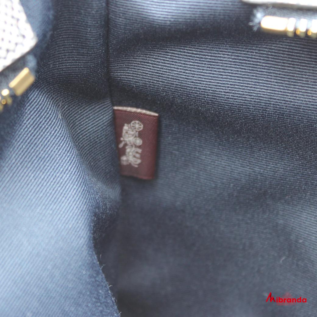 Bolso Tote CITY, de Coach, con estampado a cuadros azul marino