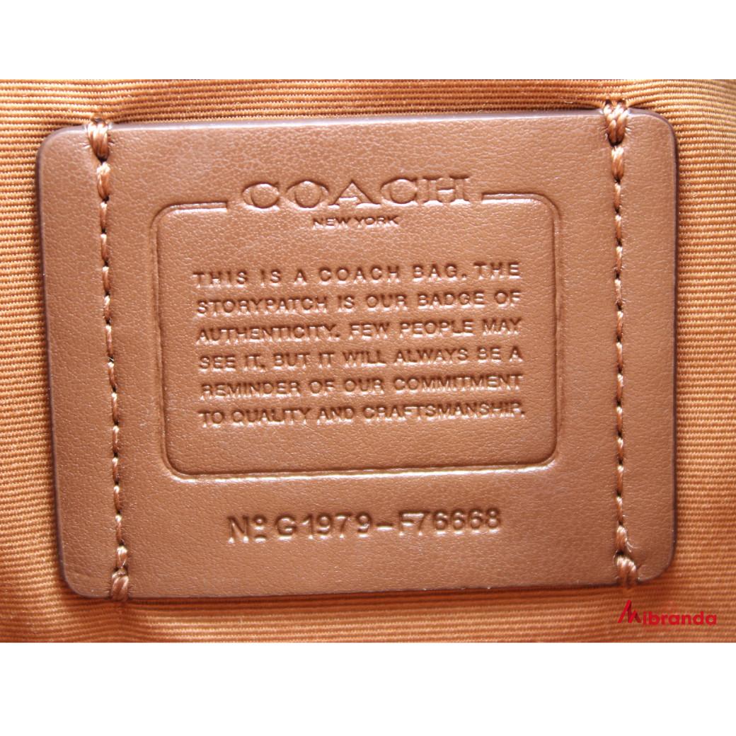 Bolso de hombro, de Coach, modelo Paxton, color camel
