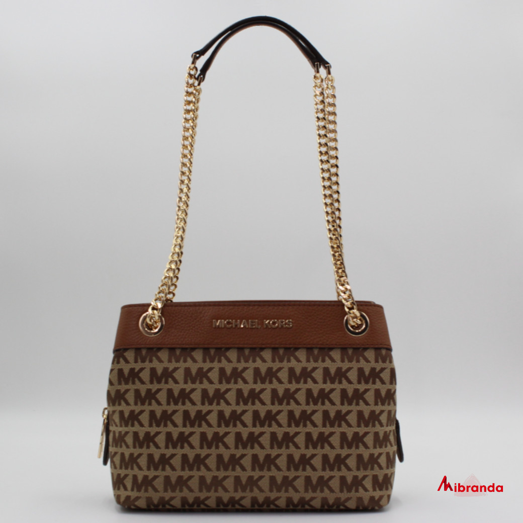 Bolso CHAIN MESSENGER, de Michael Kors, brown