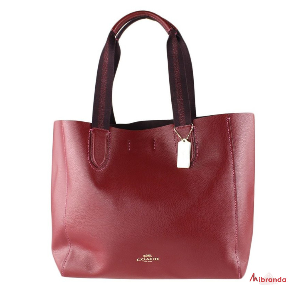 Bolso Maxi Tote DERBY, de Coach, color cherry