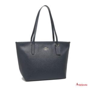 Bolso Tote Zip, de Coach, color azul marino