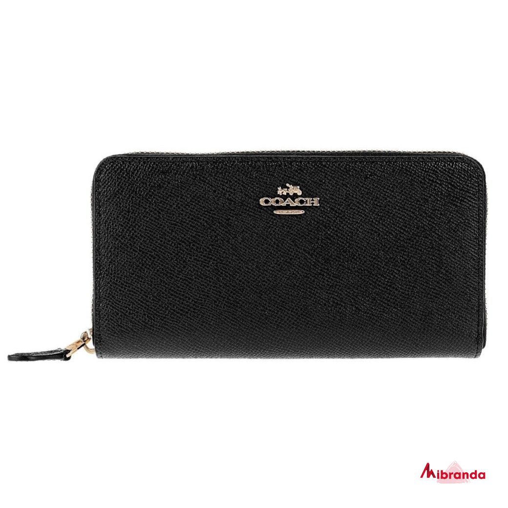 Cartera-monedero Coach, en piel color  negro