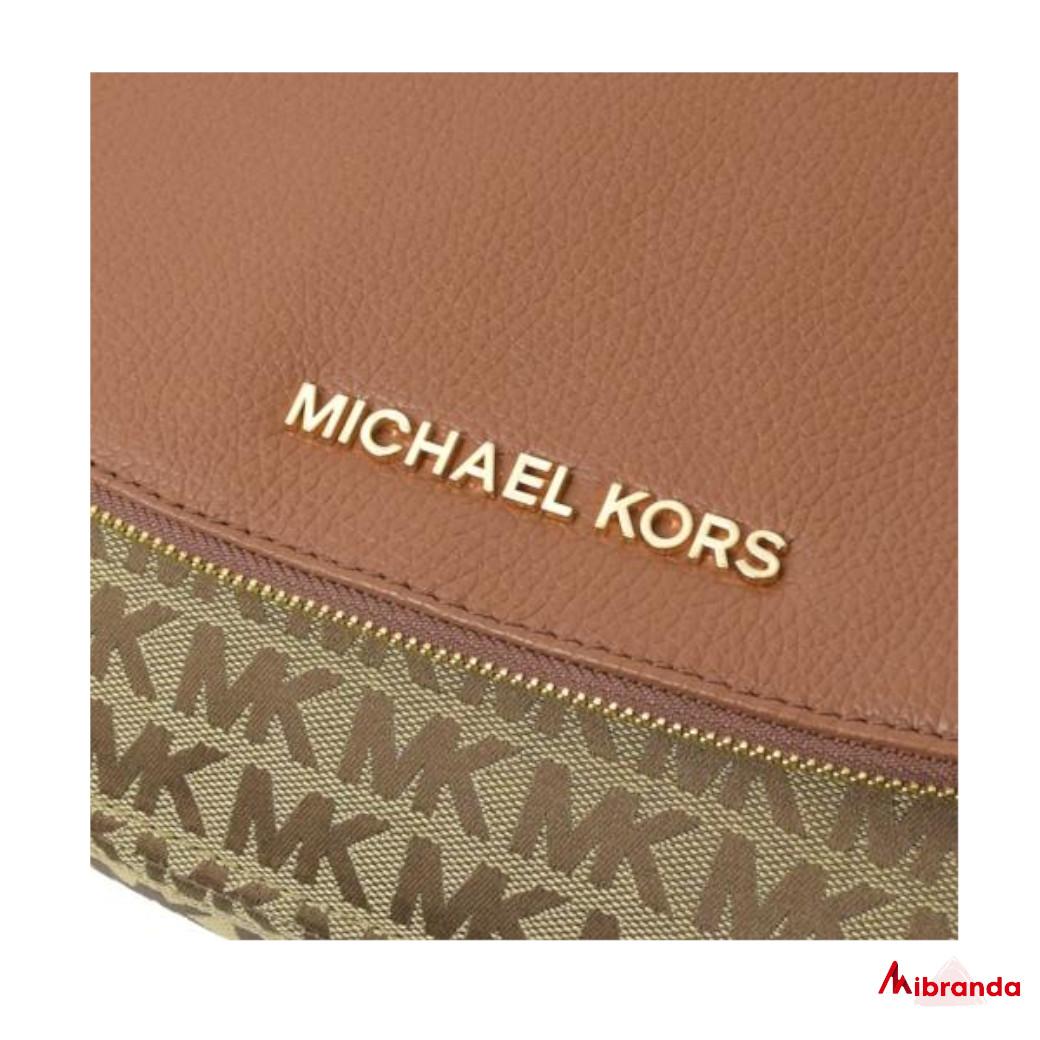 Bolso de hombro con solapa Bedford, de Michael Kors, luggage