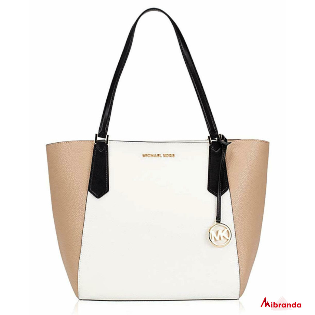 Bolso Tote Kimberly, Bisque/Black, de Michael Kors