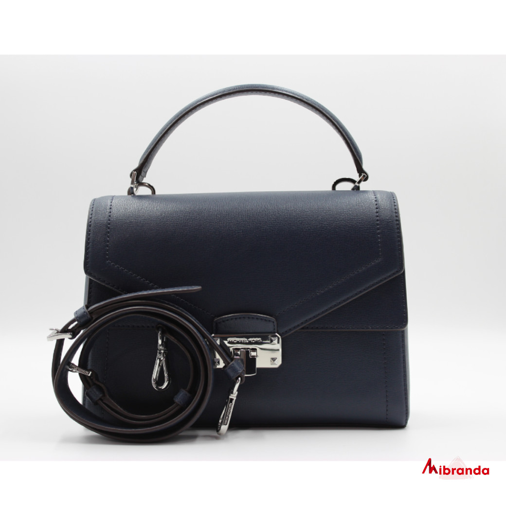 Bolso Satchel KINSLEY, de Michael Kors, color navy
