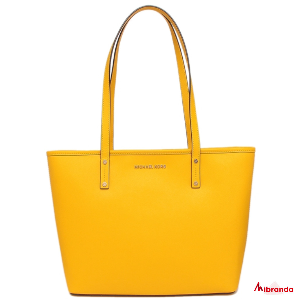 Bolso Tote Jet Set Travel, amarillo, de Michael Kors.