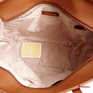 Bolso Tote Jet Set Travel, de Michael Kors, marrón estampado