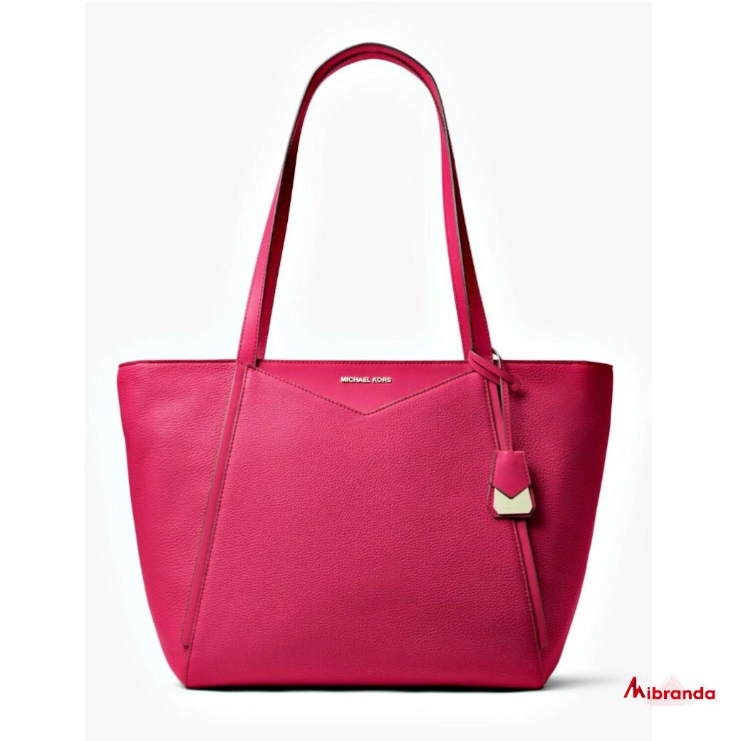 Bolso Tote WHITNEY, de Michael Kors, color rosa fucsia
