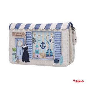 Cartera mediana con cremallera Seaside Souvenirs, de Vendula London