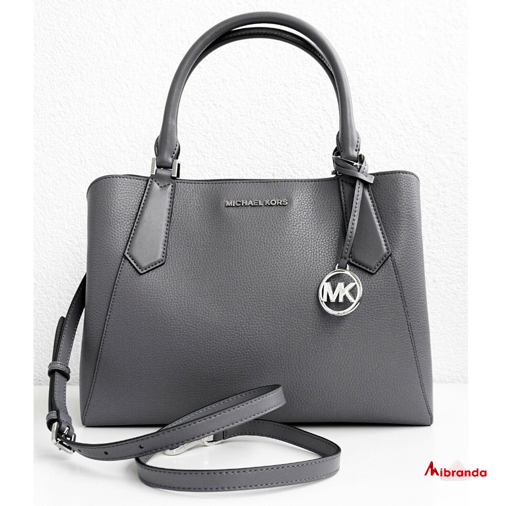 Bolso Satchel KIMBERLY, de Michael Kors, heather grey.
