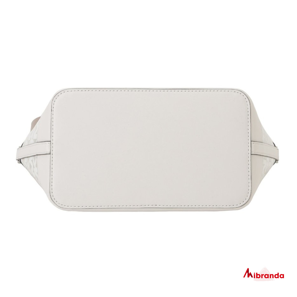 Bolso bombonera Fulton Sport, de Michael Kors, color blanco