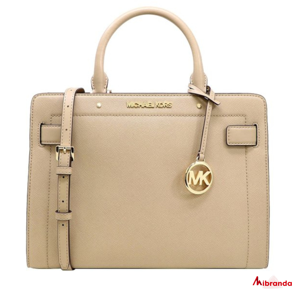 Bolso Satchel Rayne Medium, de Michael Kors, color bisque