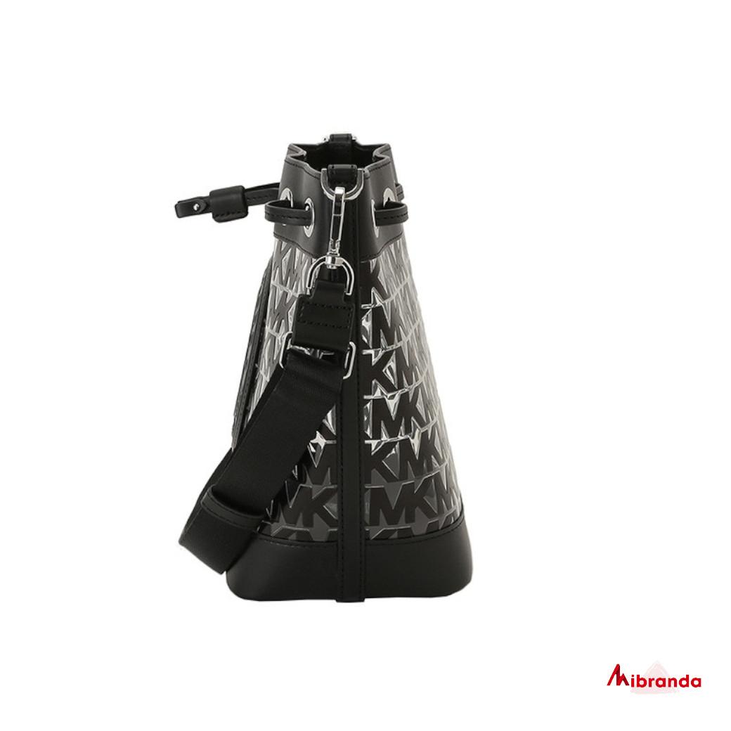 Bolso bombonera Fulton Sport, de Michael Kors, color negro