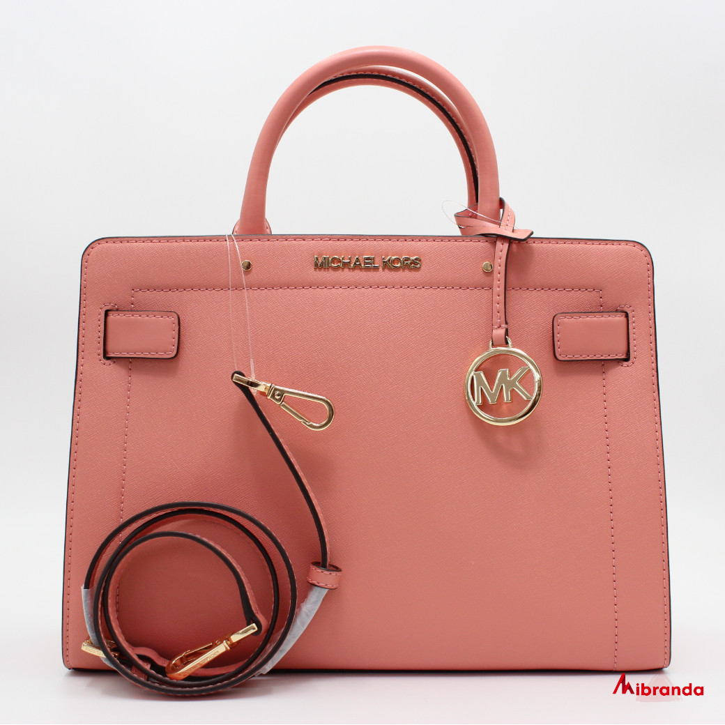 Bolso Satchel Rayne Medium, de Michael Kors, color peach