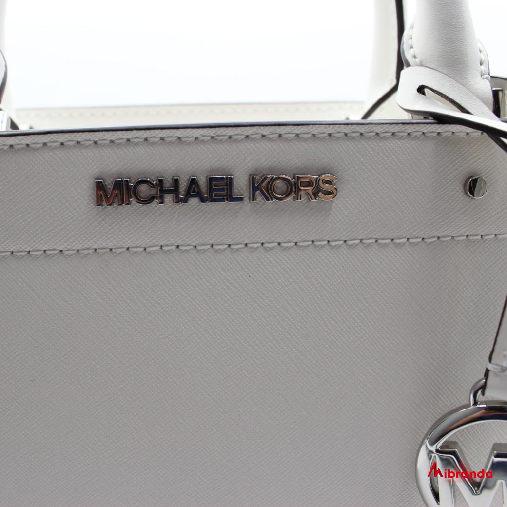 Bolso Satchel Rayne Medium, de Michael Kors, color optic white